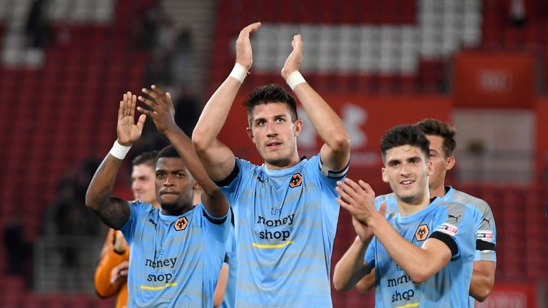 Danny Batth (c) starts a three-match suspension for Wolves