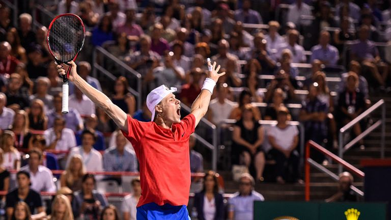 Canada's Denis Shapovalov, 18, has delighted the home crowd by reaching the last-four in Montreal