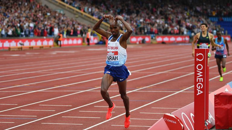 Athletics: Farah wins final track race after rival trio collide