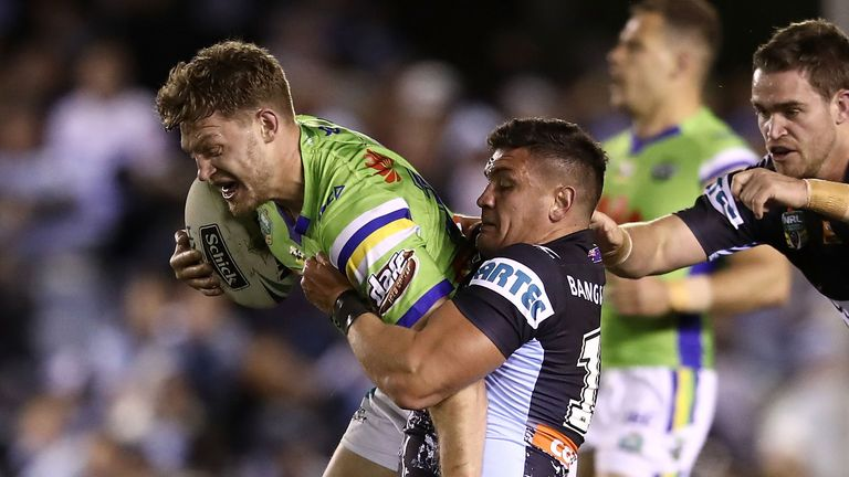 Elliot Whitehead starred at loose forward against the Sharks