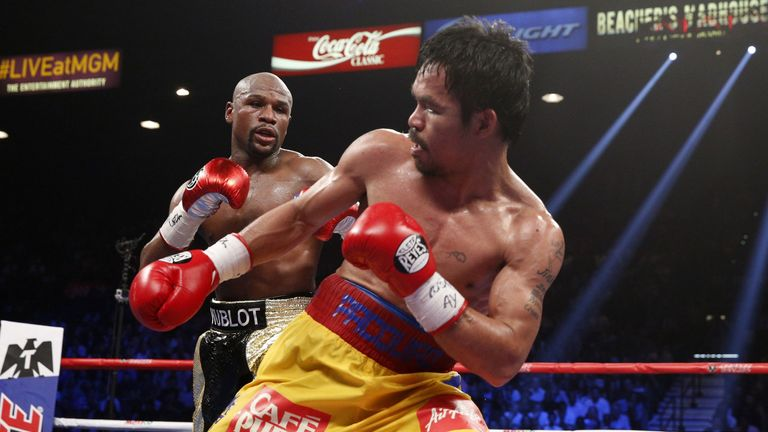 Manny Pacquiao was beaten in a battle of the sport's two biggest stars