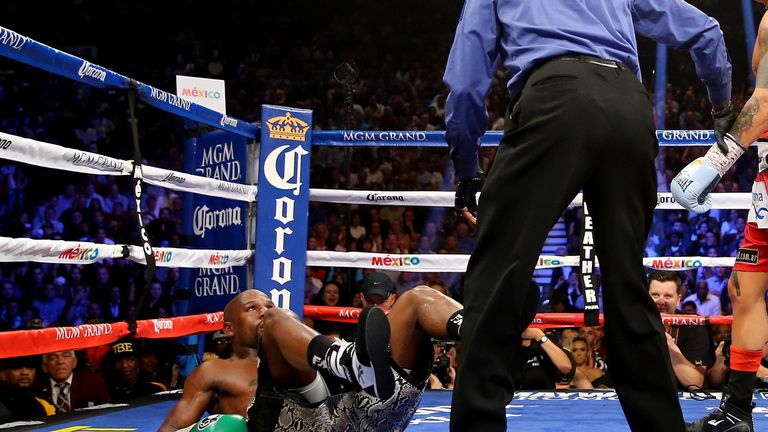 Will we see Floyd Mayweather hit the canvas?