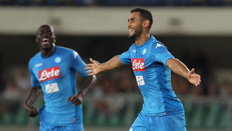 Faouzi Ghoulam (right) has been linked with a move to Liverpool
