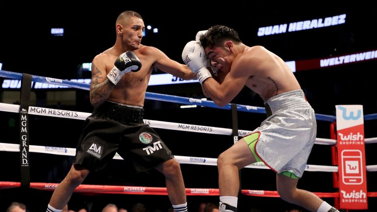 Juan Heraldez was put down in seventh but came back to take a points win