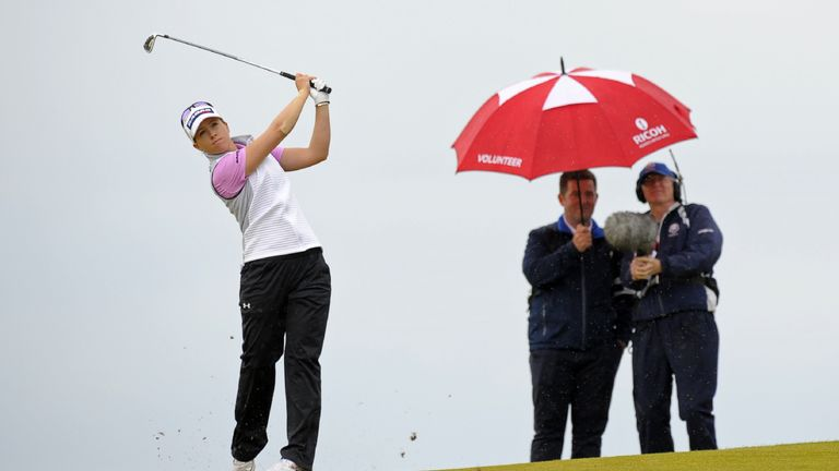 Jodi Ewart Shadoff equalled the course record on Sunday to finish in second place at the British Women's Open