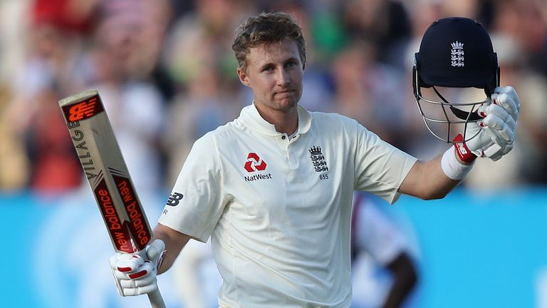 Joe Root celebrated his 13th Test century, hitting 136 at Edgbaston against the Windies