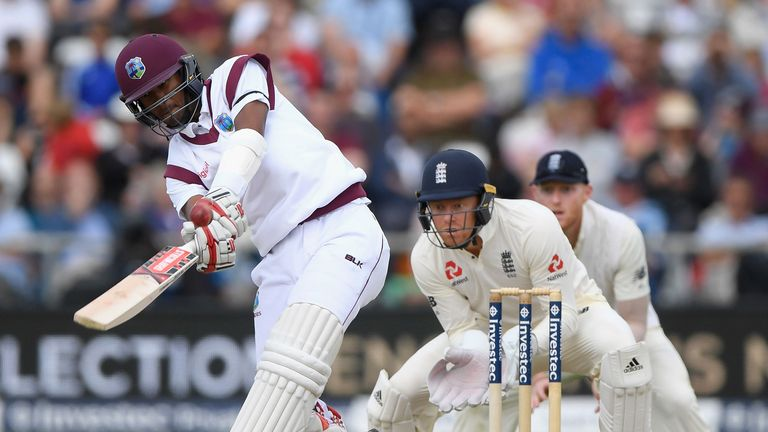 Kraigg Brathwaite goes on the offensive on day five of the second Test