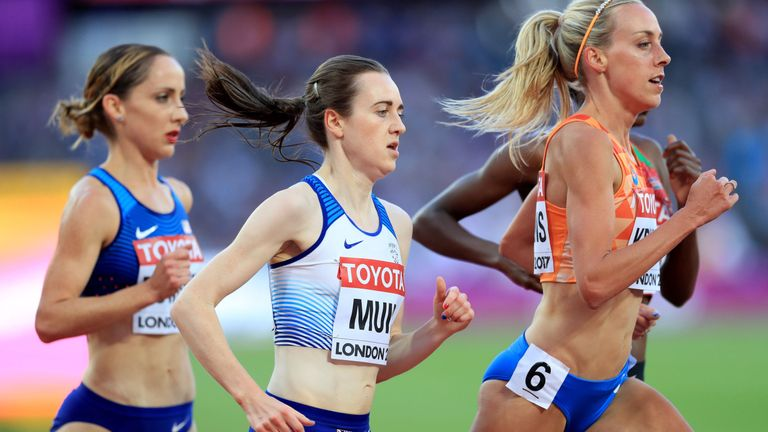 Laura Muir finished sixth in the 5,000m