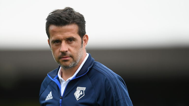 Marco Silva takes charge of his first premier League game at Watford