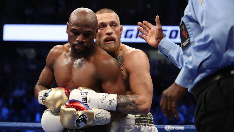 McGregor is warned for holding