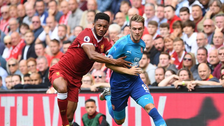 Ramsey suffered a calf injury during Arsenal's 4-0 defeat to Liverpool on Sunday
