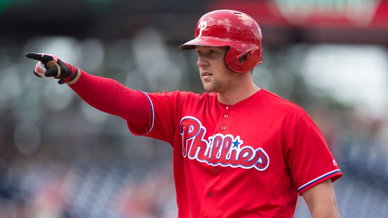 Phillies' Hoskins hopes to continue power surge vs. Cubs