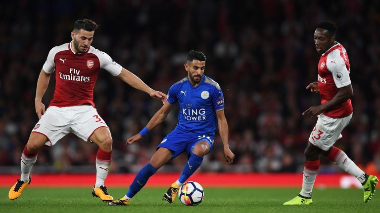 Riyad Mahrez played in Leicester's opening-day defeat to Arsenal
