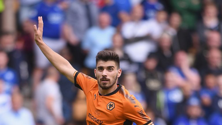 Ruben Neves of Wolves in action