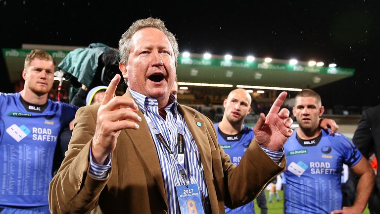 The Australian Rugby Union rejected an offer from billionaire mining magnate Andrew Forrest