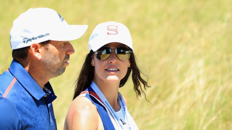 Sergio Garcia previewed his Masters defence while his wife Angela was in labour