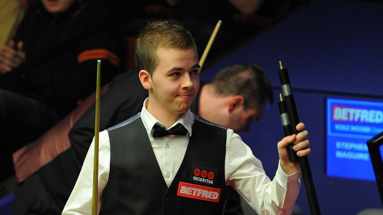 Luca Brecel of Belgium sealed his first ranking title
