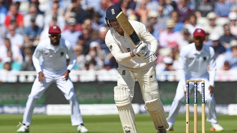 Tom Westley in action in the first Test against the Windies