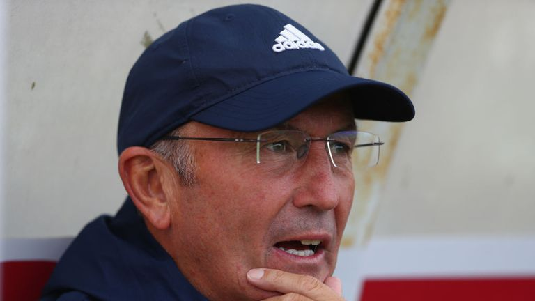 Tony Pulis put out a strong side at the Wham Stadium
