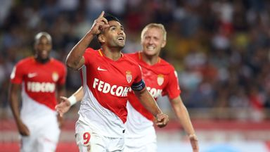Radamel Falcao scored twice in Monaco's victory