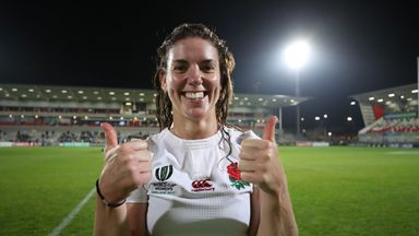 England captain Sarah Hunter has said their defence was central to WRWC semi-final victory