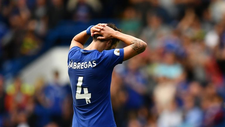 Cesc Fabregas will miss the Tottenham match through suspension