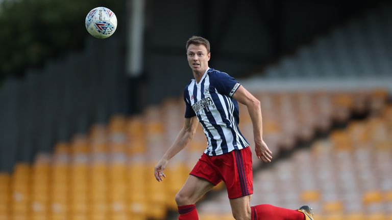 West Bromwich Albion's Jonny Evans during the pre-season friendly match at Vale Park, Stoke