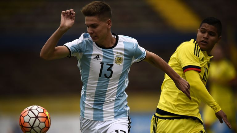 Juan Foyth (L) impressed at the South American U20 Championship