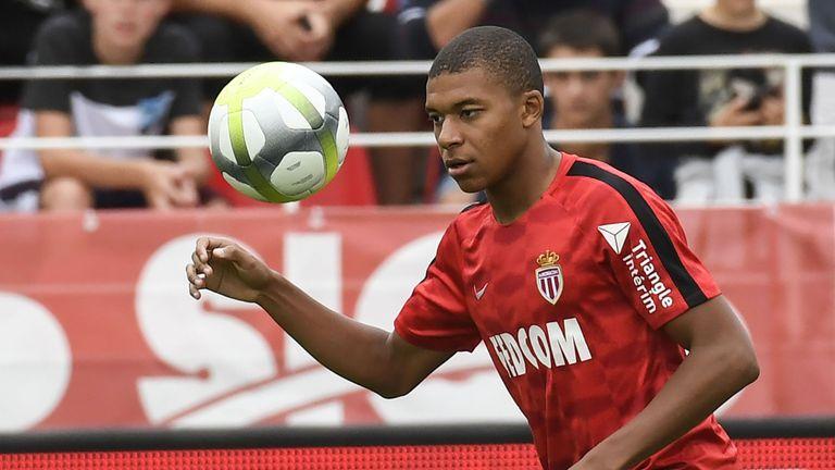 Kylian Mbappe did not feature in Monaco's league opener