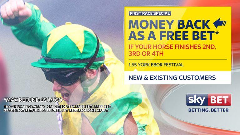 Sky Bet's money-back offer for August 24