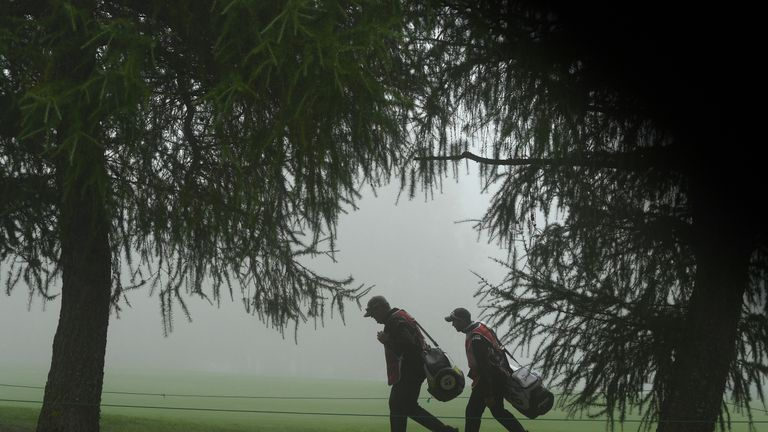 Fog suspended play at Crans-sur-Sierre on Saturday