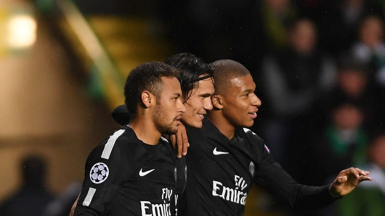 Neymar, Edinson Cavani and Kylian Mbappe were far too strong for Celtic