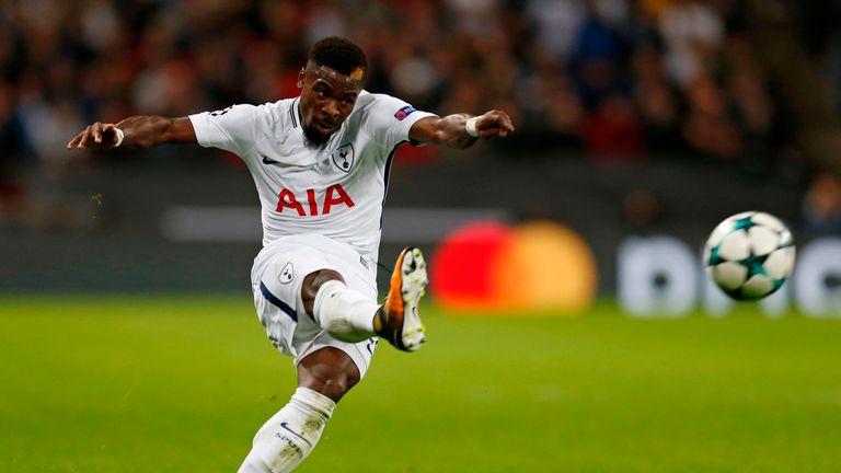 Serge Aurier enjoyed himself on his Tottenham debut at Wembley