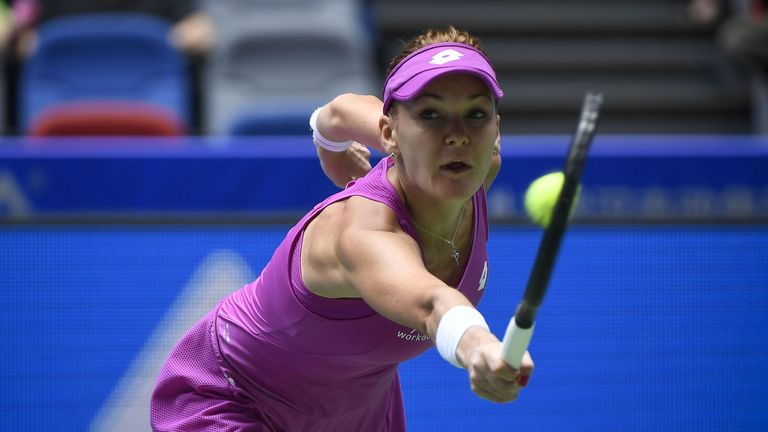 Agnieszka Radwanska won a marathon match to advance