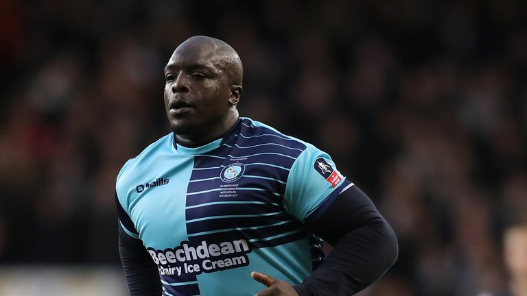 Adebayo Akinfenwa has four goals in four games for Wycome this season
