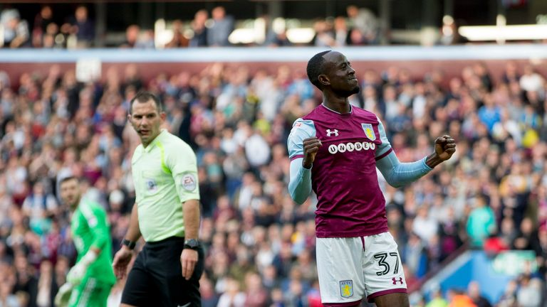 Albert Adomah scored for Aston Villa against Forest
