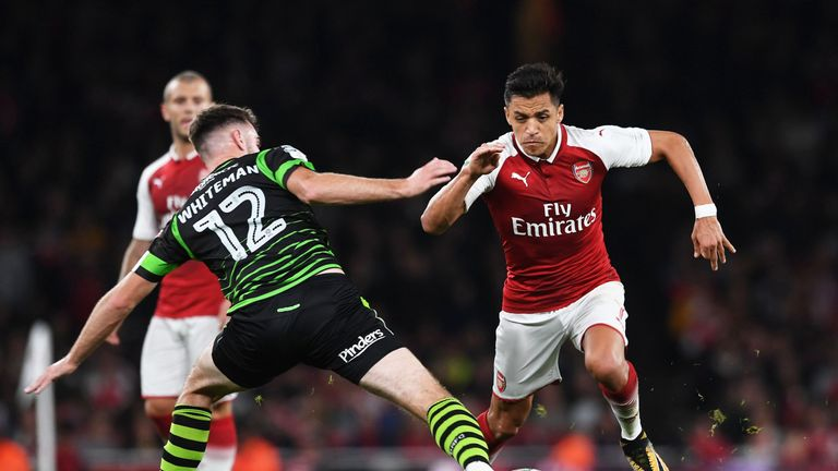 Sanchez helped Arsenal secure a place in the next round of the Carabao Cup
