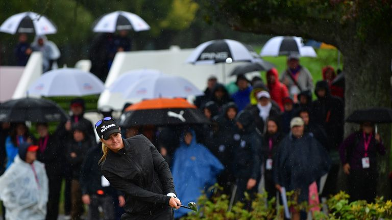 Nordqvist made a crucial up-and-down in dreadful conditions to clinch her first major since 2009