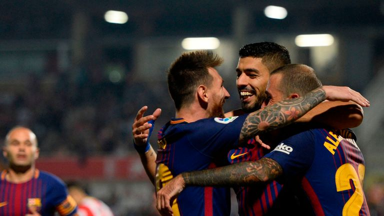 Barca maintained their four-point lead at the top of La Liga with victory at Girona
