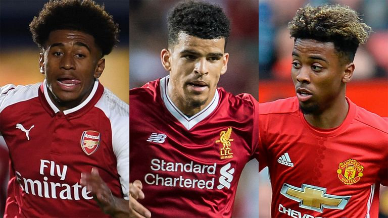 Reiss Nelson Dominic Solanke and Angel Gomes are hoping for action