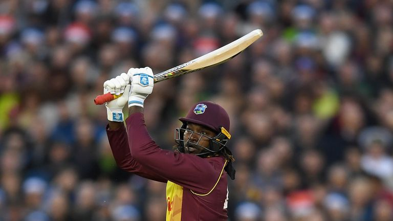 Chris Gayle is the first batsman to hit 100 sixes in T20Is
