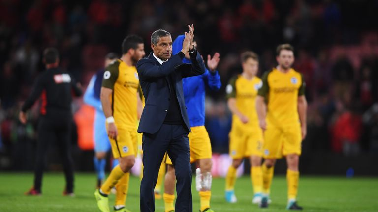 Hughton's Brighton earned promotion in second place behind Newcastle in the Sky Bet Championship last term