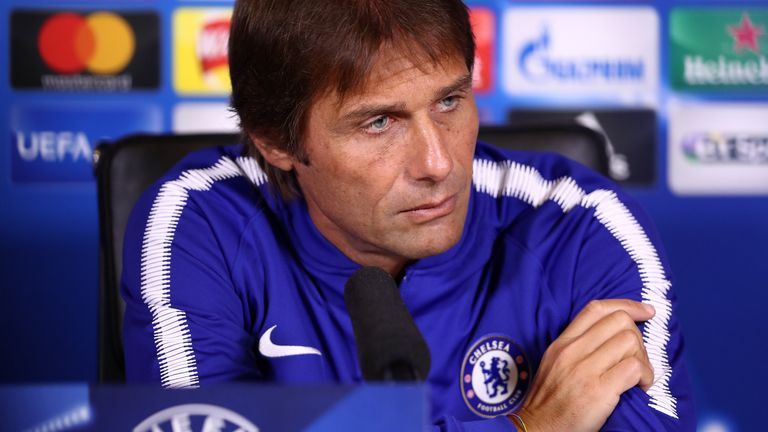 Conte is looking forward to seeing how his team fare against Atletico