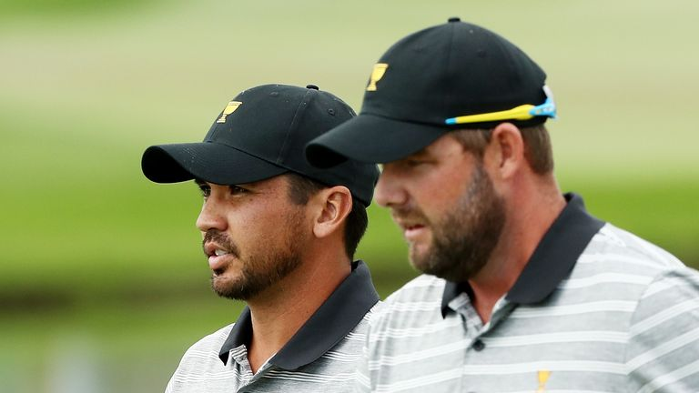 Australian duo Marc Leishman (right) and Jason Day were unable to pick up a victory for the International team