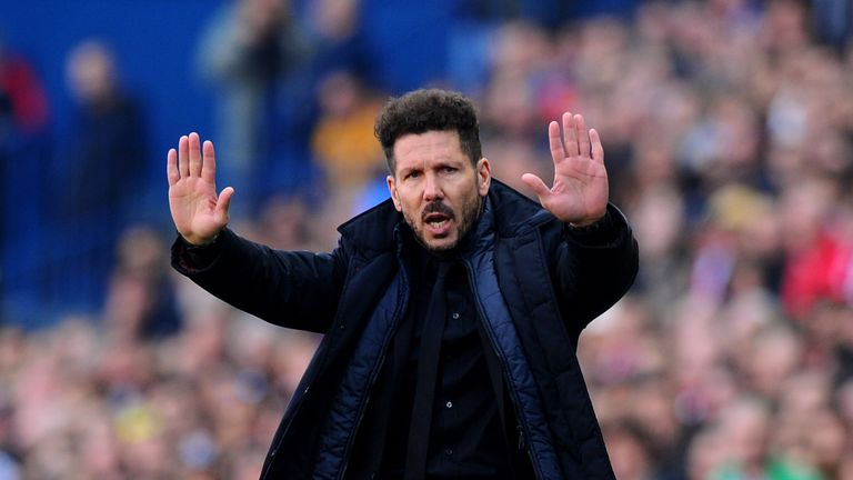 Diego Simeone will lead Atletico Madrid into their new stadium
