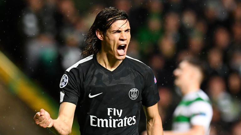 Edinson Cavani put in a fine performance against Celtic