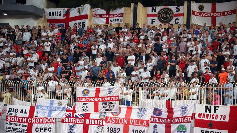 England fans in Malta