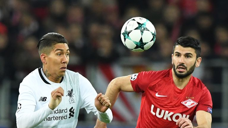 Firmino and Serdar Tasci vie for the ball