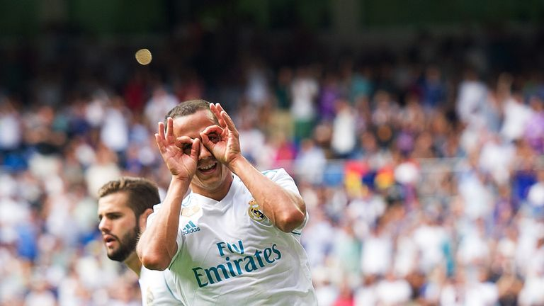 Lucas Vazquez celebrates after levelling up for the hosts