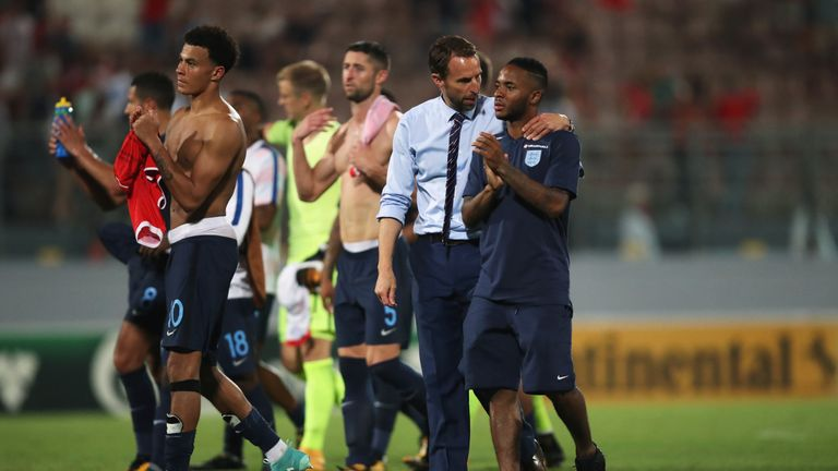 Raheem Sterling played for England during their 4-0 win against Malta